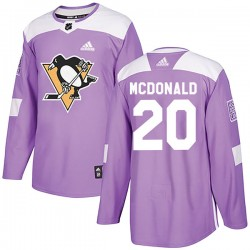 Ab Mcdonald Pittsburgh Penguins Men's Adidas Authentic Purple Fights Cancer Practice Jersey