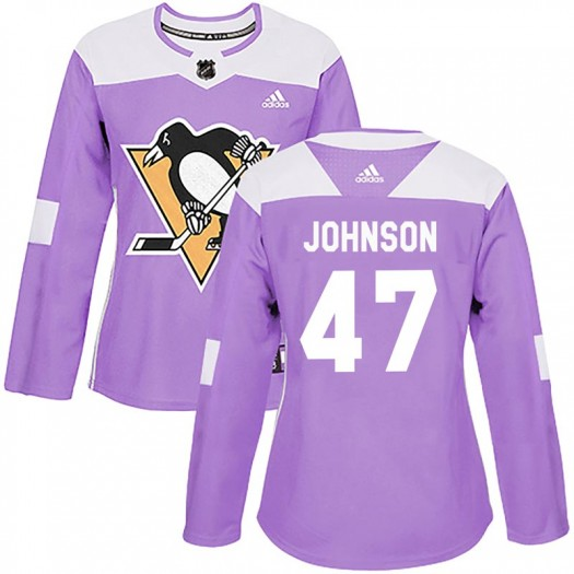 Adam Johnson Pittsburgh Penguins Women's Adidas Authentic Purple Fights Cancer Practice Jersey
