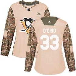 Alex Dorio Pittsburgh Penguins Women's Adidas Authentic Camo Alex DOrio Veterans Day Practice Jersey