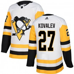 Alex Kovalev Pittsburgh Penguins Men's Adidas Authentic White Away Jersey