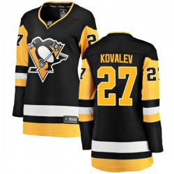 Alex Kovalev Pittsburgh Penguins Women's Fanatics Branded Black Breakaway Home Jersey