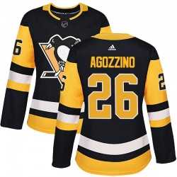 Andrew Agozzino Pittsburgh Penguins Women's Adidas Authentic Black Home Jersey