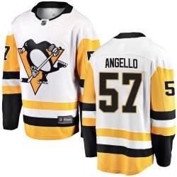 Anthony Angello Pittsburgh Penguins Youth Fanatics Branded White Breakaway Away Jersey