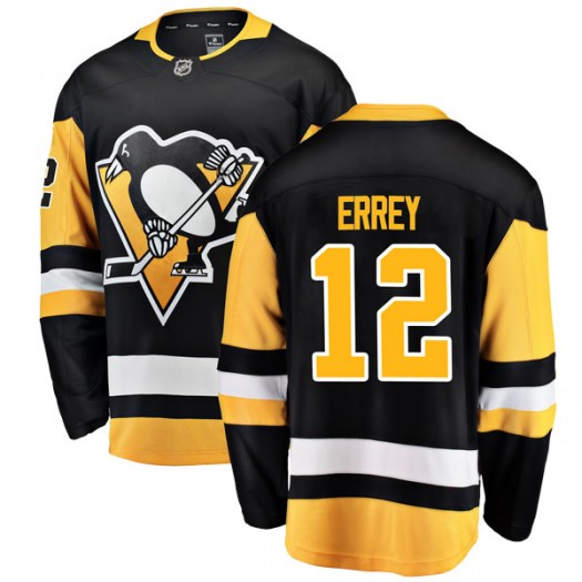 Bob Errey Pittsburgh Penguins Youth Fanatics Branded Black Breakaway Home Jersey