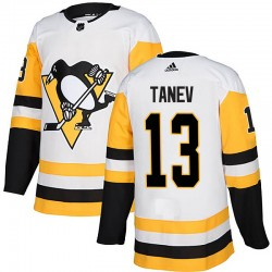 Brandon Tanev Pittsburgh Penguins Men's Adidas Authentic White Away Jersey
