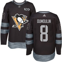 Brian Dumoulin Pittsburgh Penguins Men's Adidas Authentic Black 1917-2017 100th Anniversary Jersey