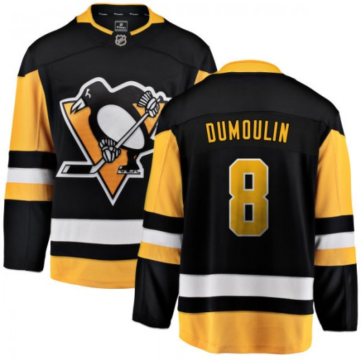 Brian Dumoulin Pittsburgh Penguins Men's Fanatics Branded Black Home Breakaway Jersey