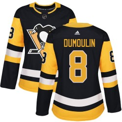 Brian Dumoulin Pittsburgh Penguins Women's Adidas Authentic Black Home Jersey