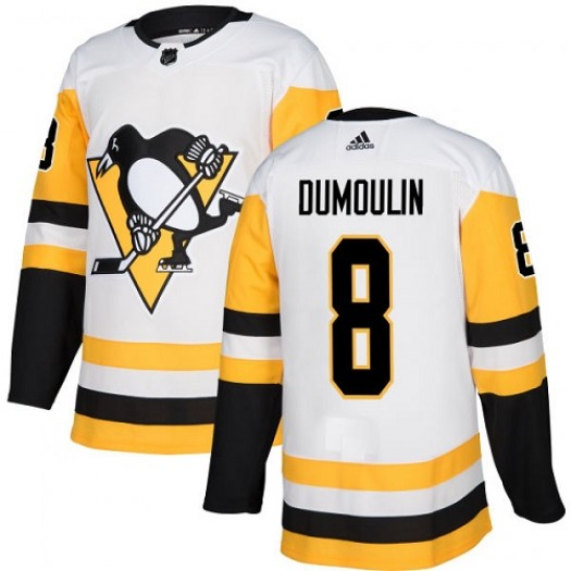 Brian Dumoulin Pittsburgh Penguins Women's Adidas Authentic White Away Jersey