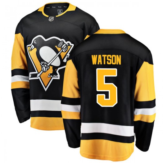 Bryan Watson Pittsburgh Penguins Youth Fanatics Branded Black Breakaway Home Jersey