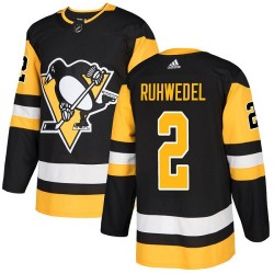 Chad Ruhwedel Pittsburgh Penguins Youth Adidas Authentic Black Home Jersey