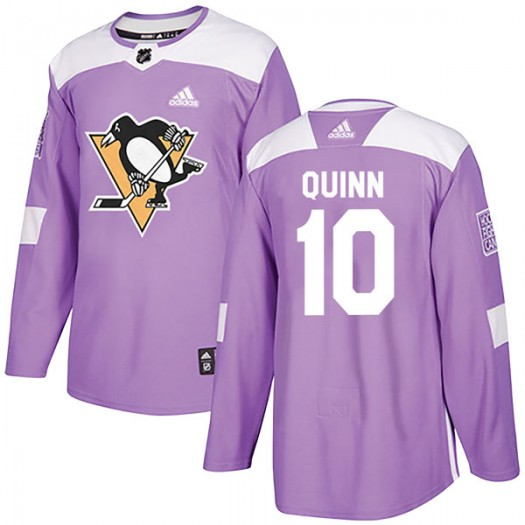 Dan Quinn Pittsburgh Penguins Youth Adidas Authentic Purple Fights Cancer Practice Jersey