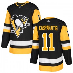 Darius Kasparaitis Pittsburgh Penguins Youth Adidas Authentic Black Home Jersey
