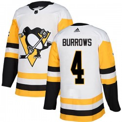Dave Burrows Pittsburgh Penguins Men's Adidas Authentic White Away Jersey