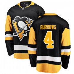 Dave Burrows Pittsburgh Penguins Men's Fanatics Branded Black Breakaway Home Jersey