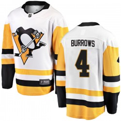 Dave Burrows Pittsburgh Penguins Men's Fanatics Branded White Breakaway Away Jersey