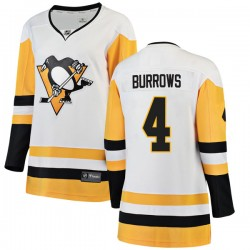 Dave Burrows Pittsburgh Penguins Women's Fanatics Branded White Breakaway Away Jersey