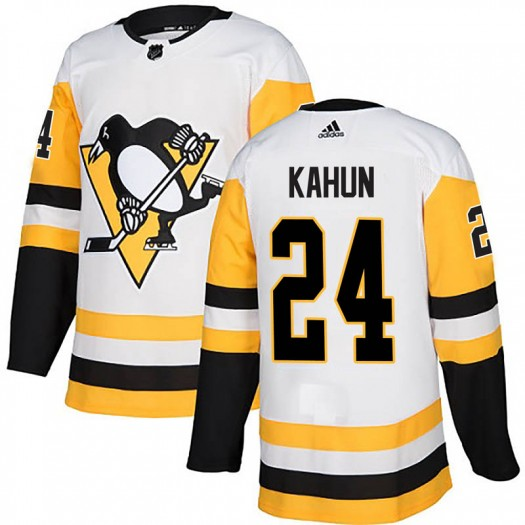 Dominik Kahun Pittsburgh Penguins Men's Adidas Authentic White Away Jersey