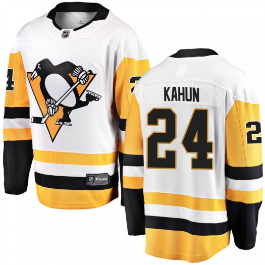 Dominik Kahun Pittsburgh Penguins Youth Fanatics Branded White Breakaway Away Jersey