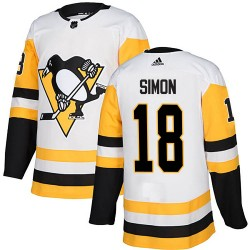 Dominik Simon Pittsburgh Penguins Men's Adidas Authentic White ized Away Jersey