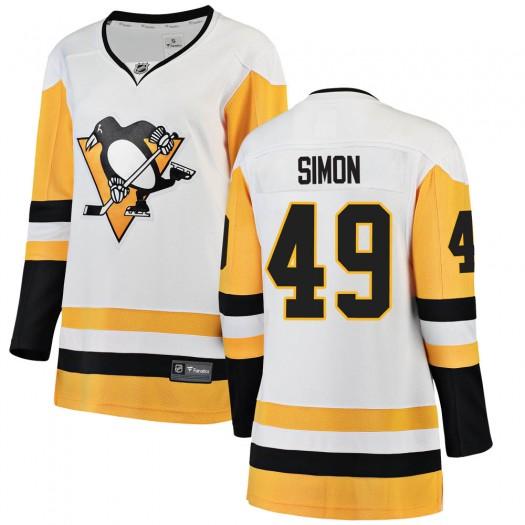 Dominik Simon Pittsburgh Penguins Women's Fanatics Branded White Breakaway Away Jersey