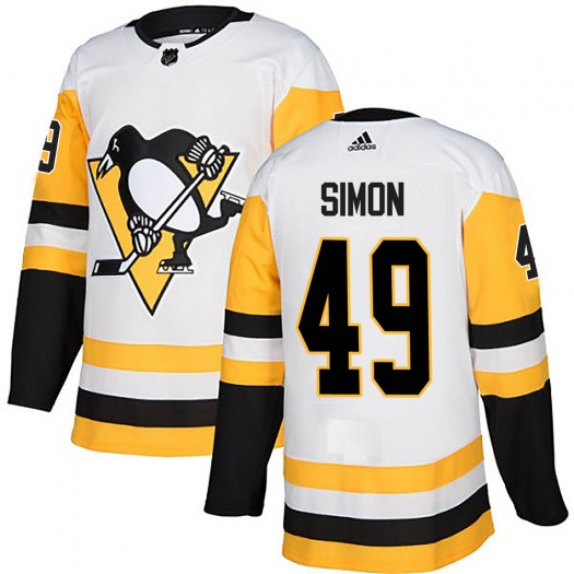 Dominik Simon Pittsburgh Penguins Youth Adidas Authentic White Away Jersey