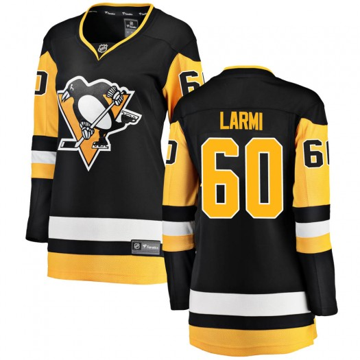 Emil Larmi Pittsburgh Penguins Women's Fanatics Branded Black ized Breakaway Home Jersey