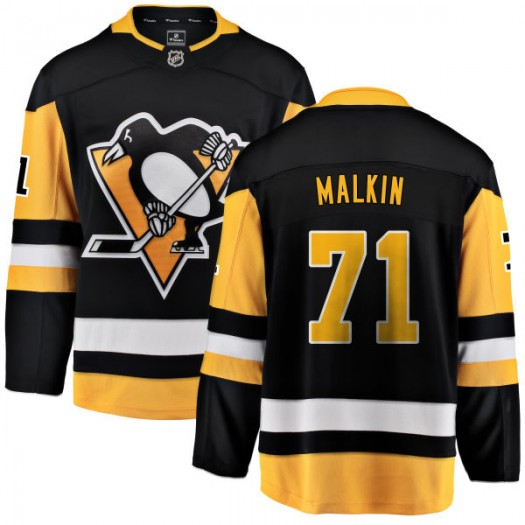 Evgeni Malkin Pittsburgh Penguins Men's Fanatics Branded Black Home Breakaway Jersey