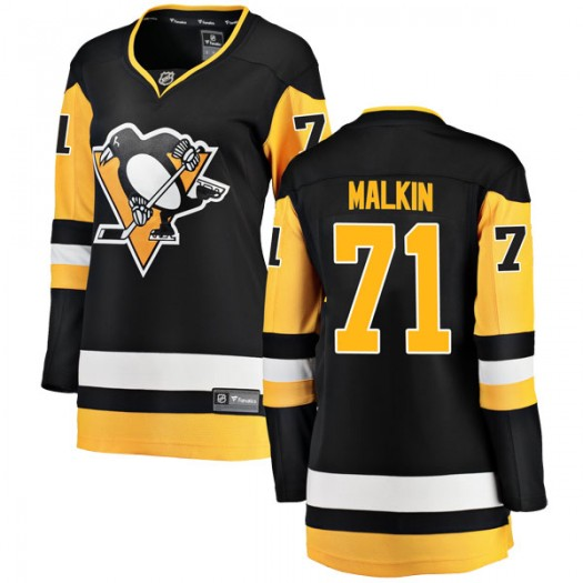 Evgeni Malkin Pittsburgh Penguins Women's Fanatics Branded Black Breakaway Home Jersey