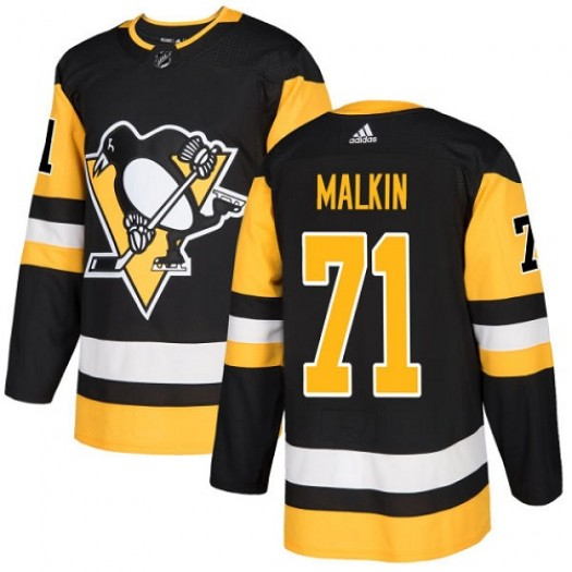 Evgeni Malkin Pittsburgh Penguins Youth Adidas Authentic Black Home Jersey