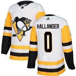 Filip Hallander Pittsburgh Penguins Men's Adidas Authentic White Away Jersey