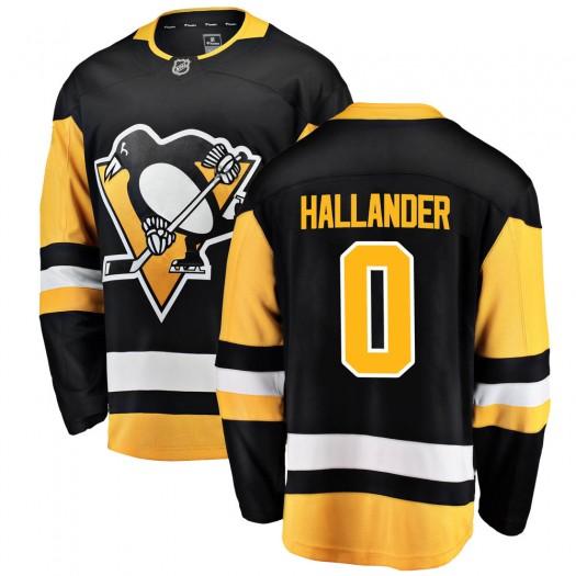Filip Hallander Pittsburgh Penguins Men's Fanatics Branded Black Breakaway Home Jersey