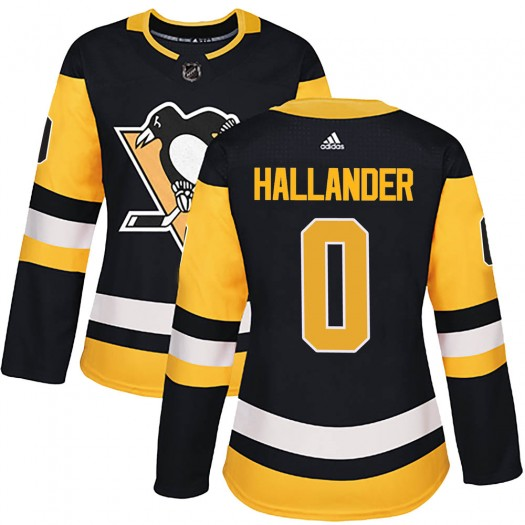 Filip Hallander Pittsburgh Penguins Women's Adidas Authentic Black Home Jersey