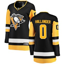 Filip Hallander Pittsburgh Penguins Women's Fanatics Branded Black Breakaway Home Jersey