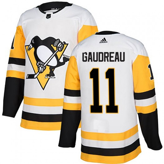 Frederick Gaudreau Pittsburgh Penguins Men's Adidas Authentic White Away Jersey