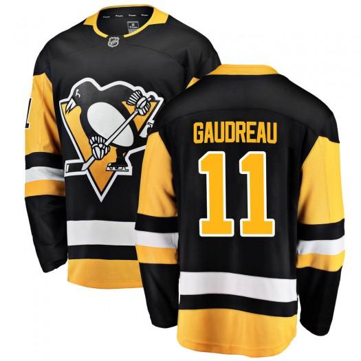 Frederick Gaudreau Pittsburgh Penguins Men's Fanatics Branded Black Breakaway Home Jersey