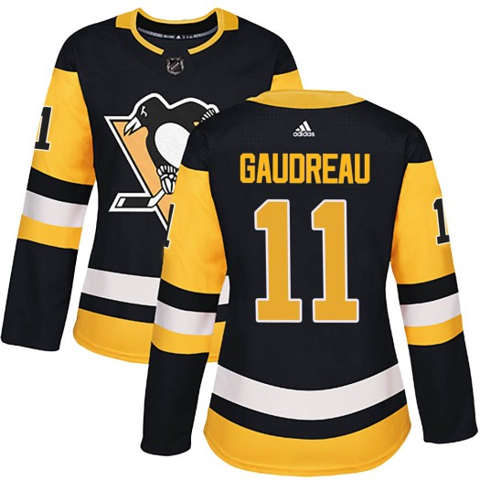 Frederick Gaudreau Pittsburgh Penguins Women's Adidas Authentic Black Home Jersey
