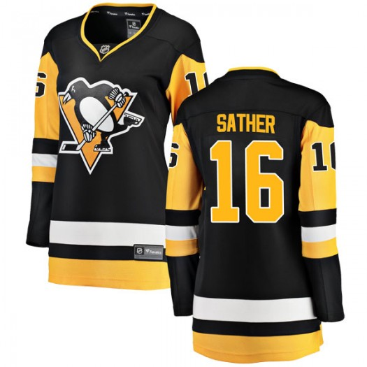 Glen Sather Pittsburgh Penguins Women's Fanatics Branded Black Breakaway Home Jersey