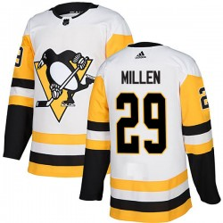 Greg Millen Pittsburgh Penguins Men's Adidas Authentic White Away Jersey