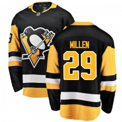 Greg Millen Pittsburgh Penguins Men's Fanatics Branded Black Breakaway Home Jersey