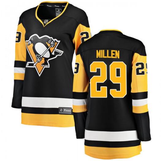 Greg Millen Pittsburgh Penguins Women's Fanatics Branded Black Breakaway Home Jersey