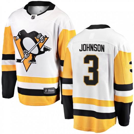 Jack Johnson Pittsburgh Penguins Youth Fanatics Branded White Breakaway Away Jersey