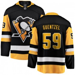 Jake Guentzel Pittsburgh Penguins Men's Fanatics Branded Black Home Breakaway Jersey