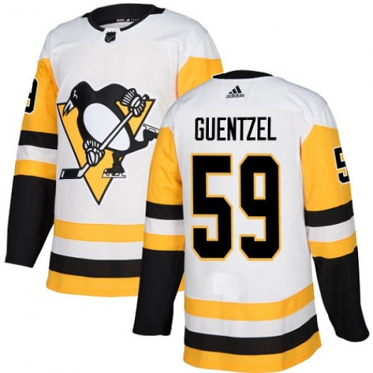 Jake Guentzel Pittsburgh Penguins Women's Adidas Authentic White Away Jersey