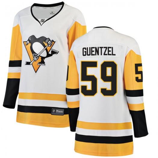 Jake Guentzel Pittsburgh Penguins Women's Fanatics Branded White Breakaway Away Jersey
