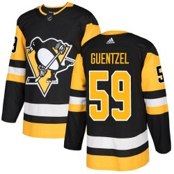 Jake Guentzel Pittsburgh Penguins Youth Adidas Authentic Black Home Jersey
