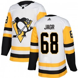Jaromir Jagr Pittsburgh Penguins Men's Adidas Authentic White Away Jersey