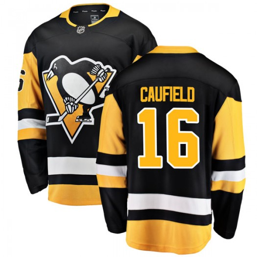 Jay Caufield Pittsburgh Penguins Men's Fanatics Branded Black Breakaway Home Jersey