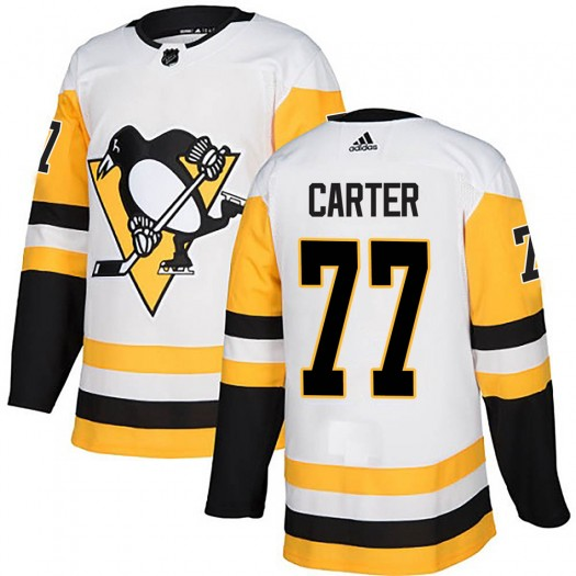 Jeff Carter Pittsburgh Penguins Men's Adidas Authentic White Away Jersey