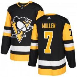 Joe Mullen Pittsburgh Penguins Men's Adidas Authentic Black Jersey